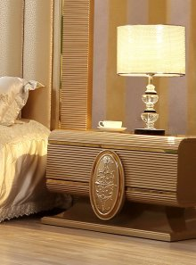 Traditional Nightstand in Gray Wood Traditional Style Homey Design HD-922