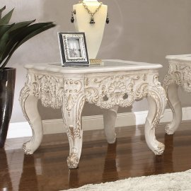 Traditional End Table in Beige Wood,Glass Traditional Style Homey Design HD-998I