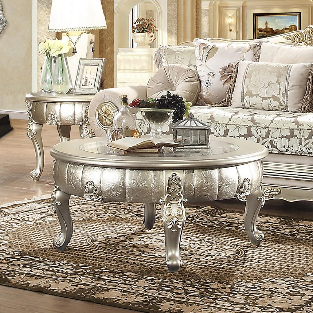 Traditional End Table in Gray Wood Traditional Style Homey Design HD-1560