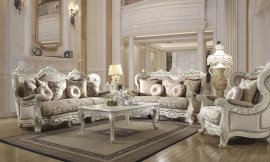 Traditional Living Room Set 3 PCS in Beige Fabric Traditional Style Homey Design HD-2657