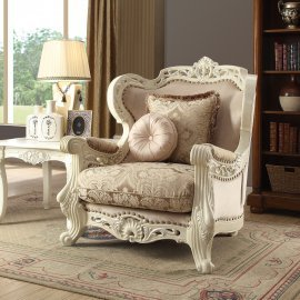 Traditional Chair in Beige Fabric Traditional Style Homey Design HD-2657