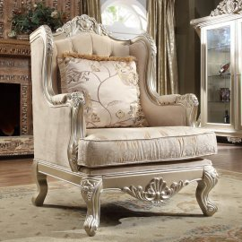 Traditional Chair in Beige Fabric Traditional Style Homey Design HD-661