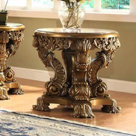 Traditional End Table in Brown Wood Traditional Style Homey Design HD-8008