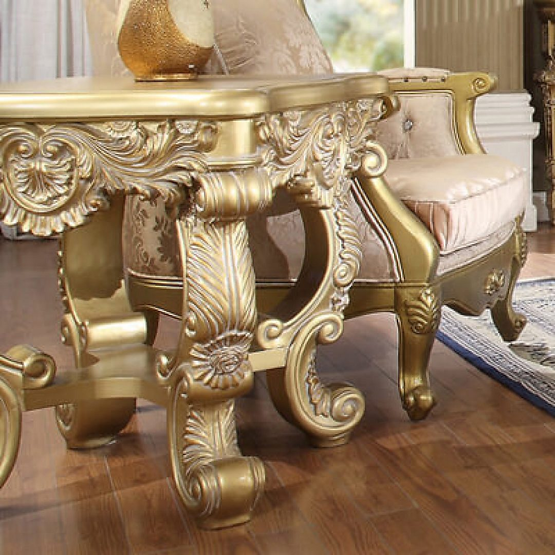 Traditional End Table in Yellow Wood Traditional Style Homey Design HD-8086