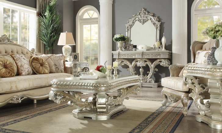 Traditional Coffee Table Set 3 Pcs In Gray Wood Traditional Style