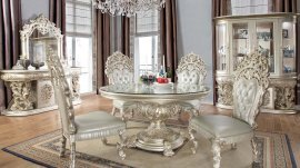 Traditional Dining Room Set 5 PCS in Gray Wood Traditional Style Homey Design HD-8088